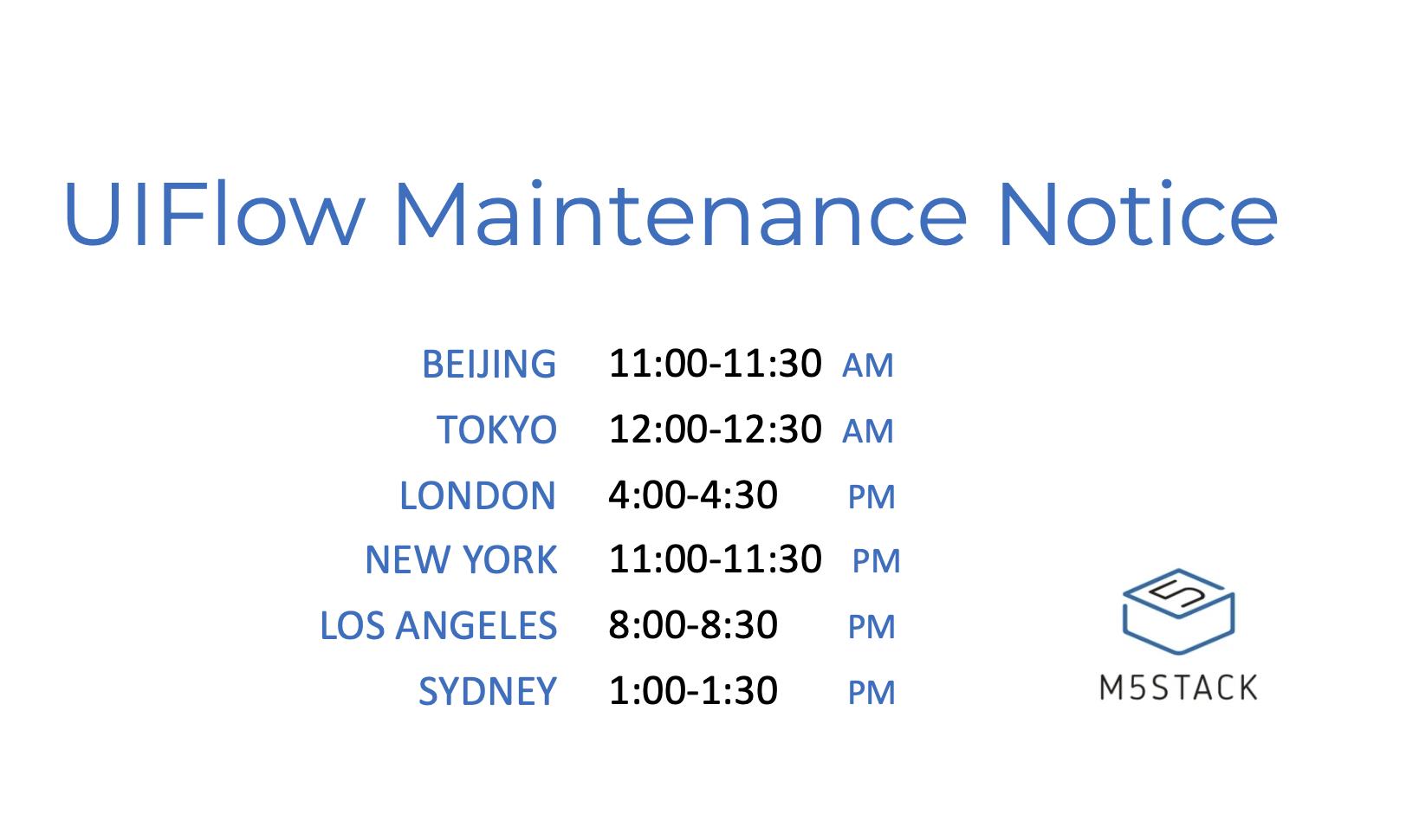 UIFlow Maintenance Notice